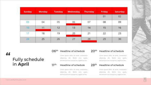 annual plan calendar schedule 2016 powerpoint template