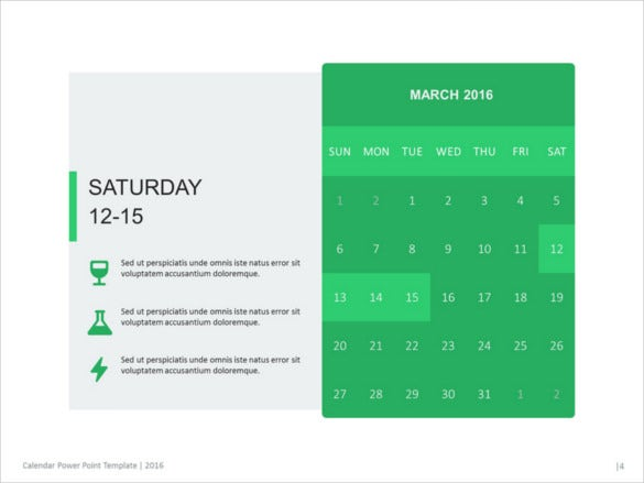 calendar 2016 presentation template