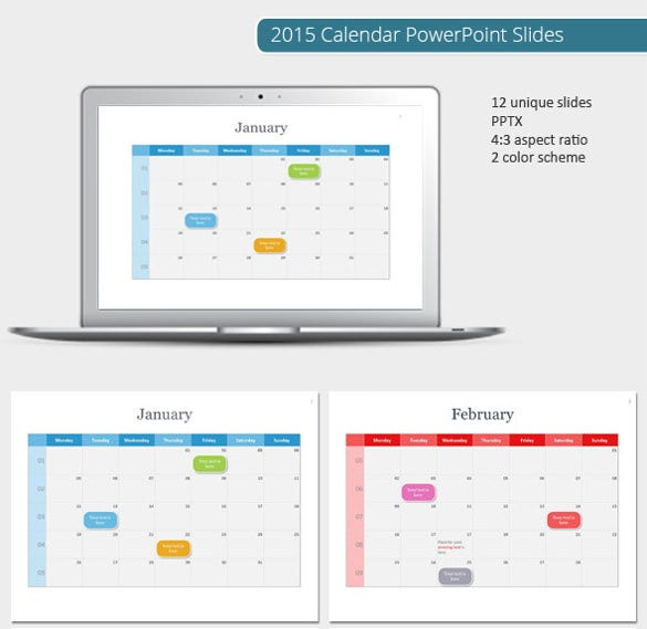 Powerpoint calendar template 8 free ppt pptx potx documents powerpoint calendar template 2015 toneelgroepblik Image collections