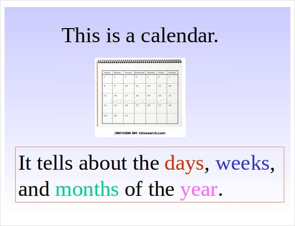 powerpoint monthly calendar template