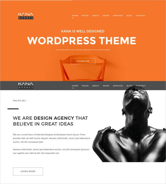 kana creative agency wordpress theme