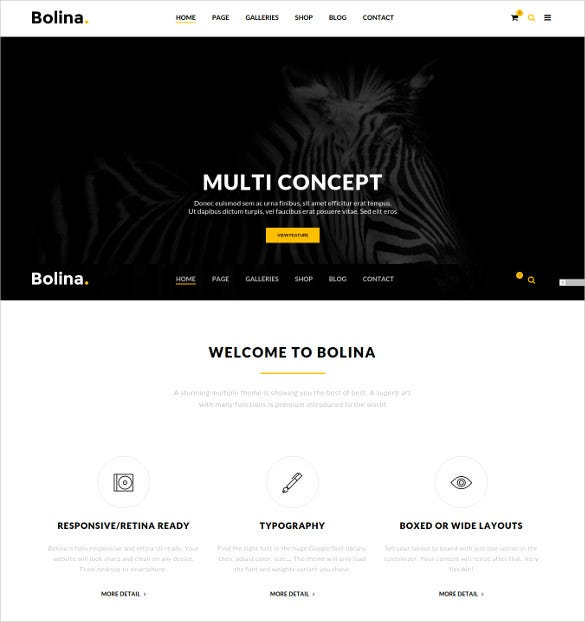 bolina trendy stylist wordpress theme