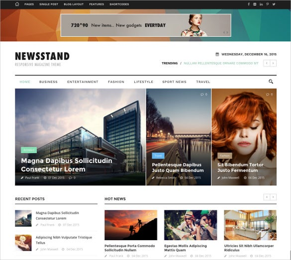 newsstand responsive magazine editorial wordpress theme