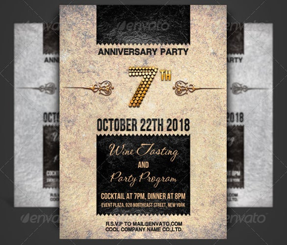 30 Anniversary Invitation Templates Psd Vector Eps Ai Free