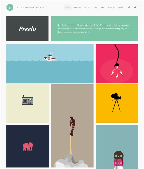 freelo wp creative wordpress portfolio theme