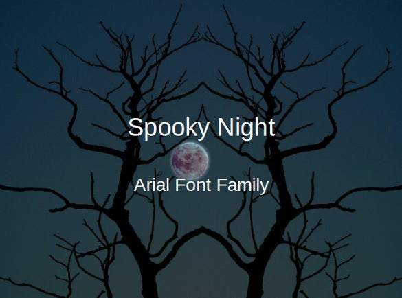 spooky night halloween powerpoint template
