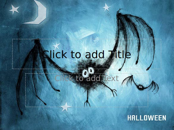 free scary halloween powerpoint template