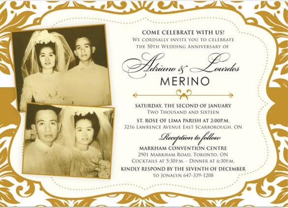 Wedding anniversary flyers templates free stopboris Images