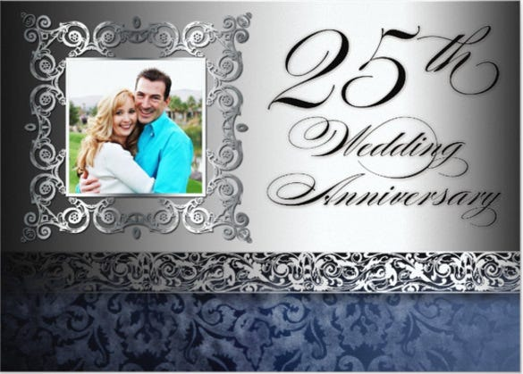 Anniversary invitation templates 28 free psd vector eps ai 25th wedding anniversary photo invitations stopboris Image collections