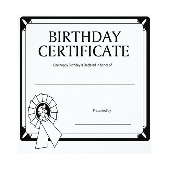 birthday gift certificate simple template download