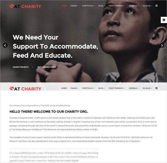 dark charity joomla template