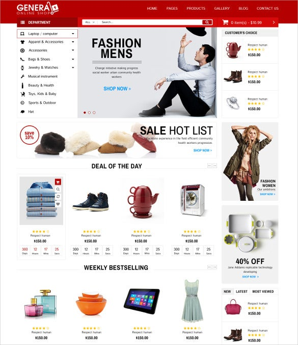 general responsive woocommerce supermarket template