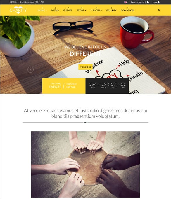 fully responsive joomla template for charity