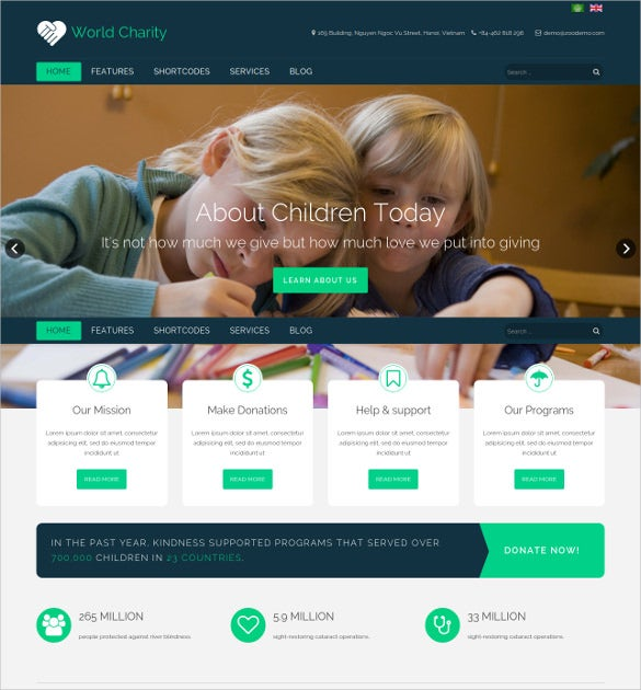 responsive joomla template for charity