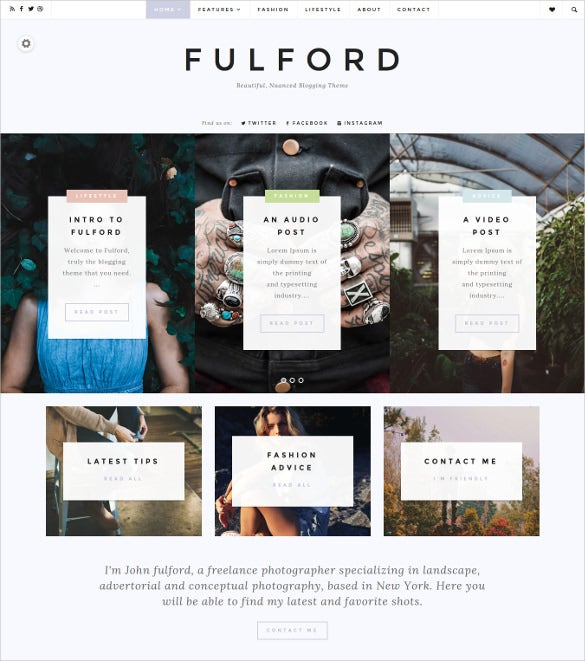 fulford multipurpose blog theme