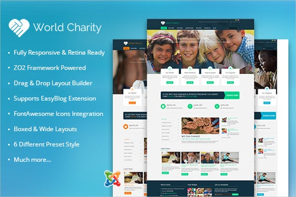 joomla charity for world