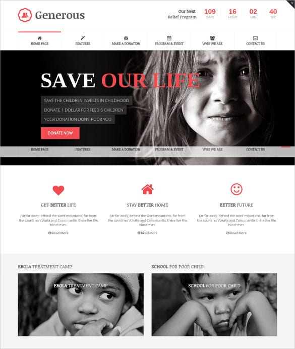 charity joomla template for premium download