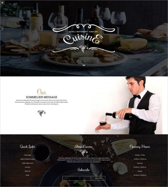 cuisine joomla restaurant template