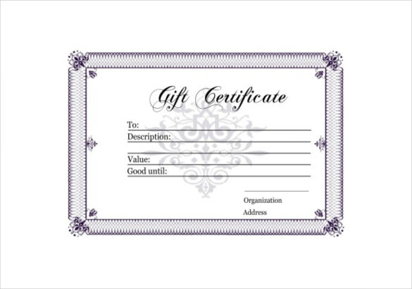 homemade gift certificate pdf template free download