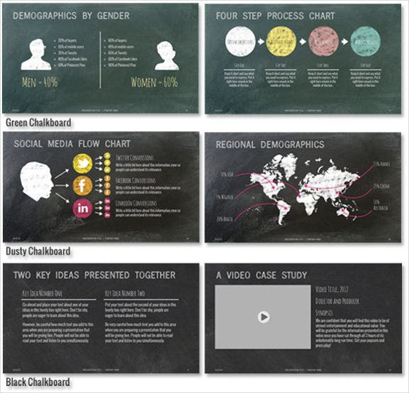 Célèbre Chalkboard PowerPoint Template – 10+ Free PPT, PPTX Documents  VW87