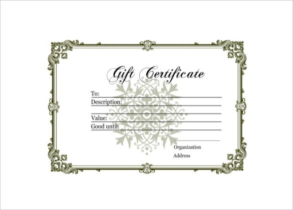 9 homemade gift certificate templates � free sample