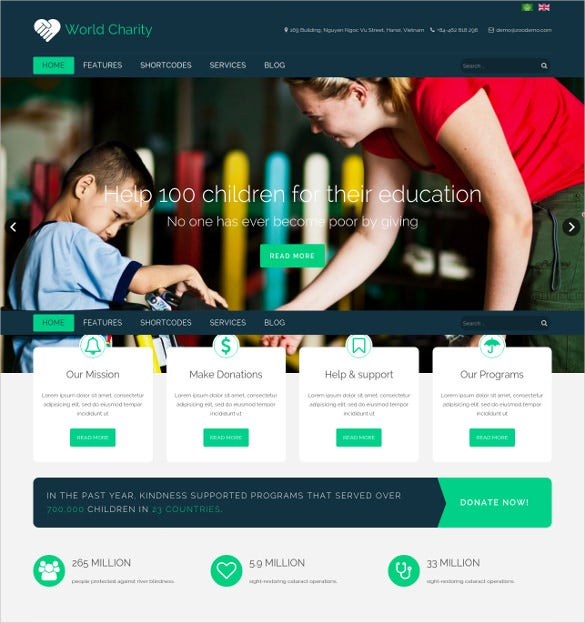 beautiful joomla charity template 1