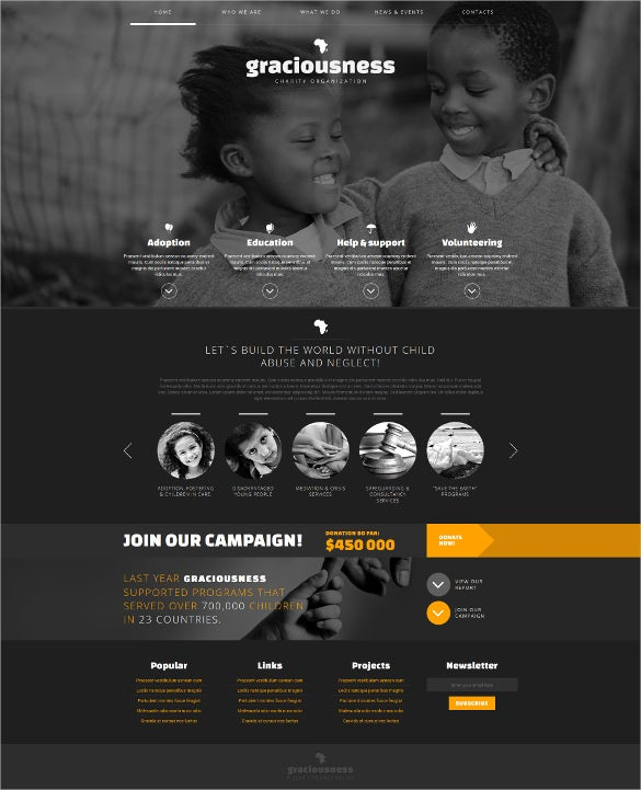 darkness joomla charity template