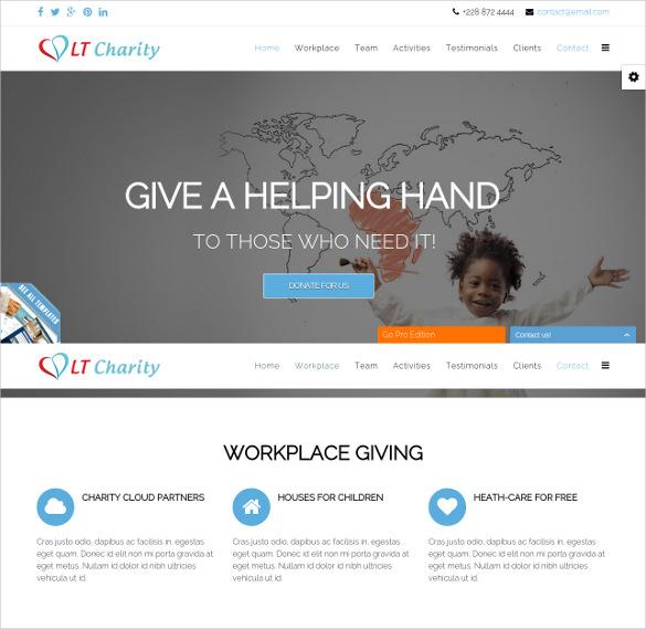 non profit joomla charity template