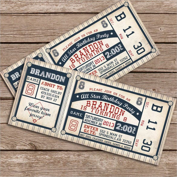 diy printable baseball birthday invitation
