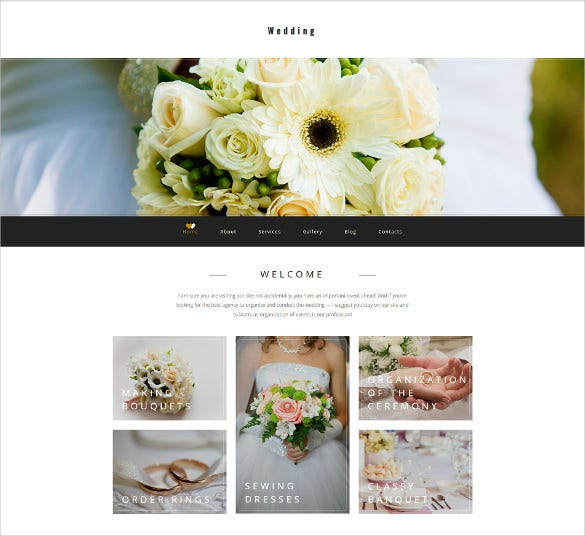 wedding planner responsive moto cms 3 blog template