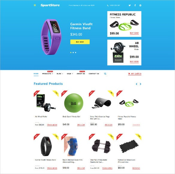 sport store shopify blog theme