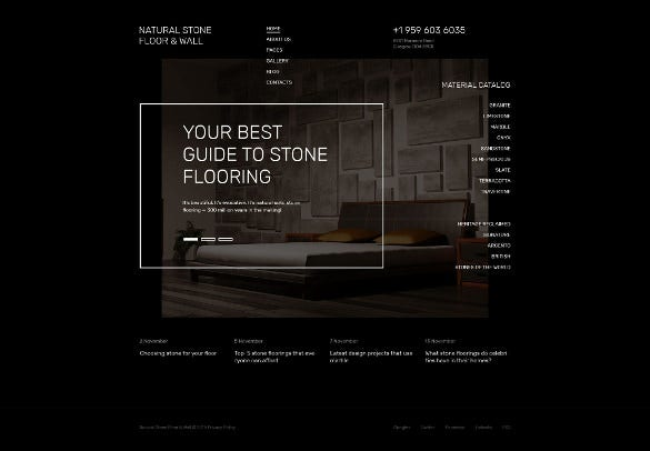 natural stone floor wall joomla blog template