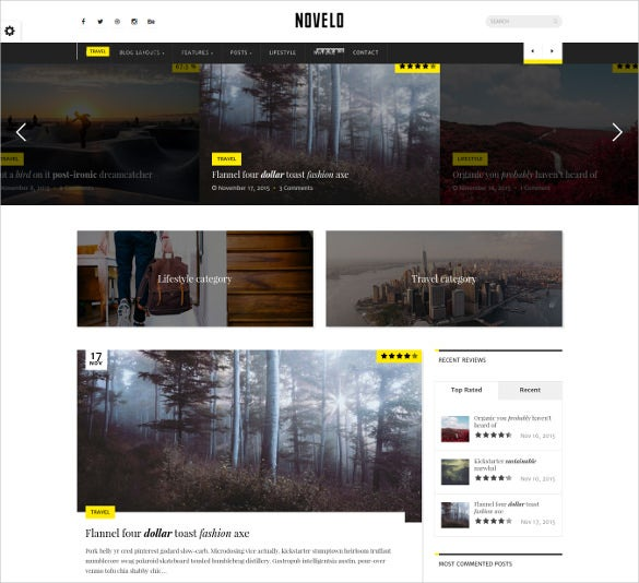 novelo responsive wordpress blog theme