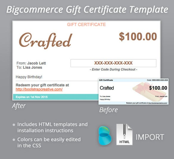 Email Gift Certificate Template 6 Free Psd Eps Documents