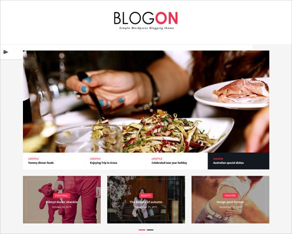 blogon a responsive wordpress blog theme