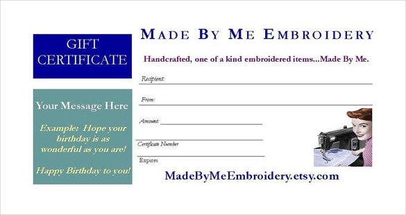 email gift certificate template download