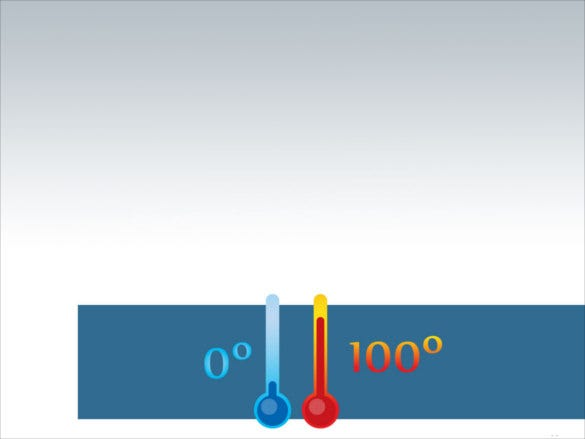 chemistry thermometer powerpoint template
