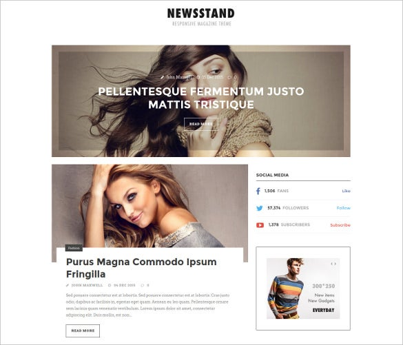 newsstand responsive magazine editorial wordpress template