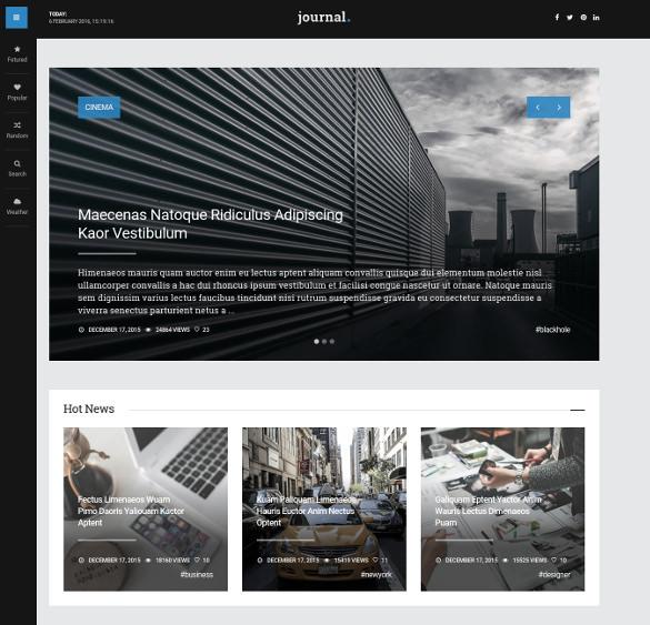 journal wordpress news and blog magazine