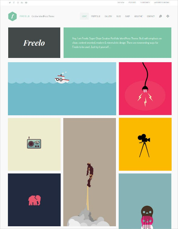 freelo wp creative wordpress portfolio template