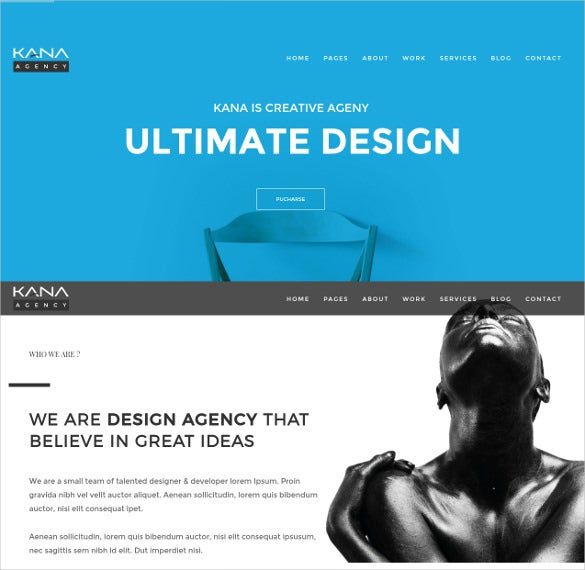 kana creative agency wordpress blog theme