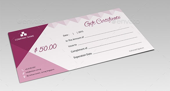 email gift certificate photoshop template download