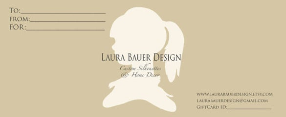 custom email gift certificate template