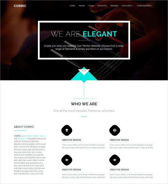 cosmic simple responsive template1