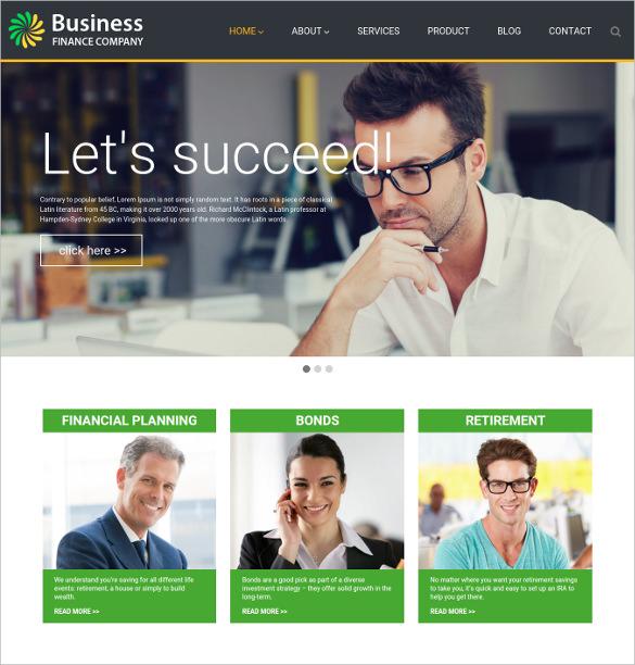 business finance wordpress blog theme