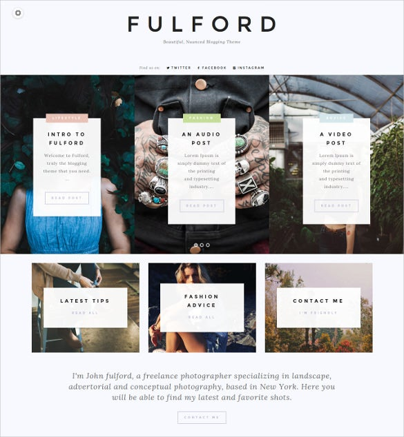 fulford multipurpose blog template