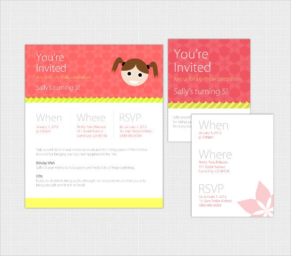 simple elegant email birthday invitation pack