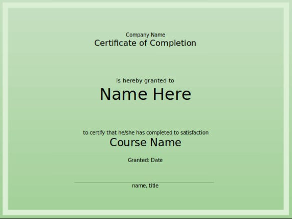 8 powerpoint certificate template free sample example format course completion certificate template for powerpoint format download yadclub Choice Image