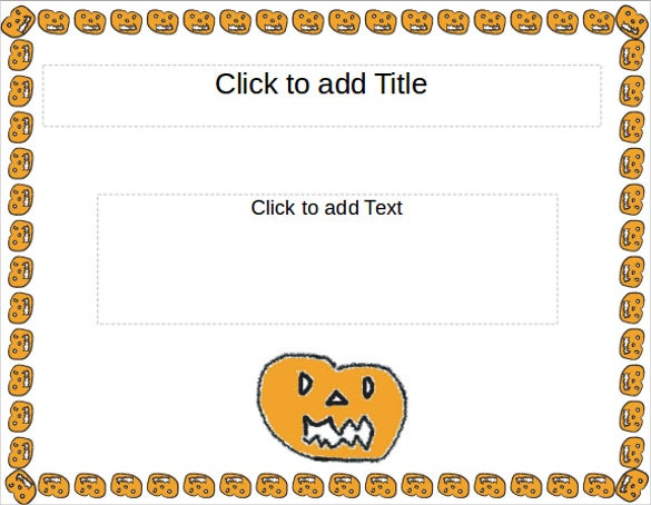 halloween award certificate powerpoint template
