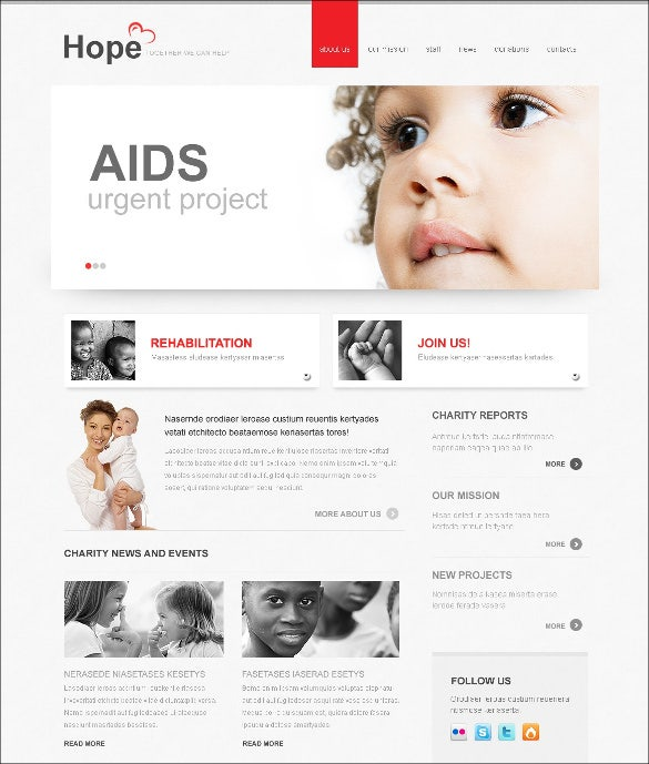 charity blog template for aids